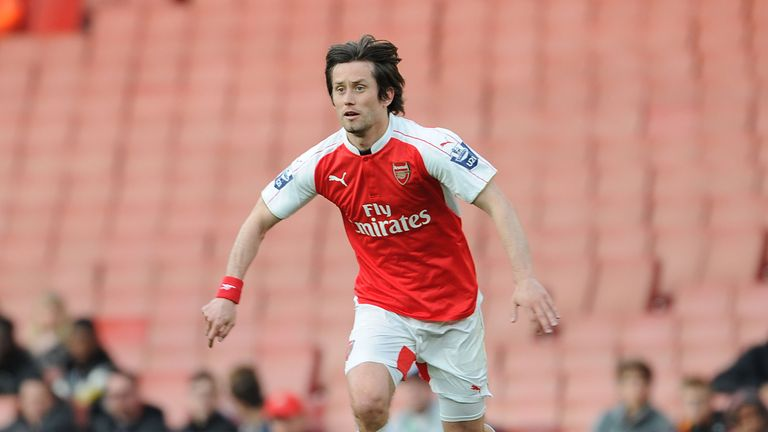 Tomas Rosicky has also been included, despite playing less than a half of football for Arsenal this season