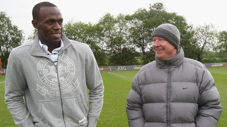 Bolt has previously spent time at the Manchester United training ground