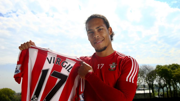 Van Dijk signed a new six-year contract with Southampton in the summer