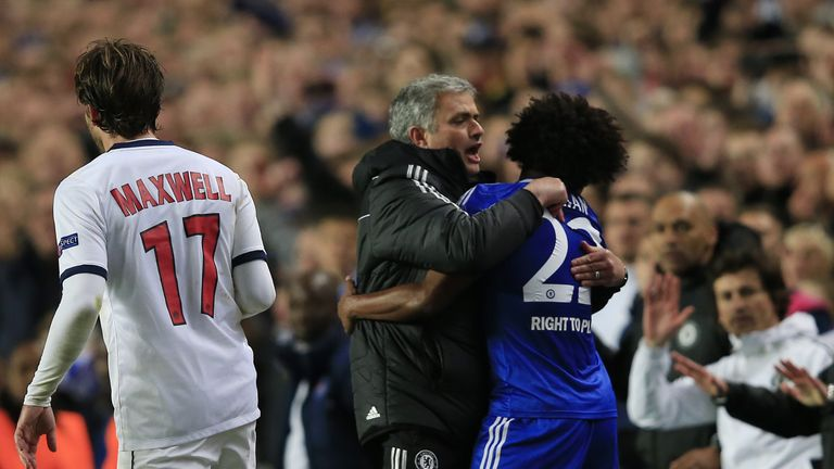 Jose Mourinho managed Willian during his spell at Chelsea