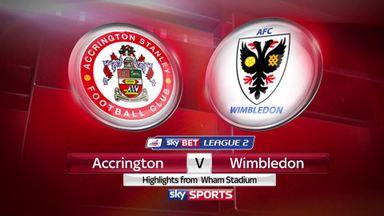 Accrington 2-2 AFC Wimbledon (2-3 agg)