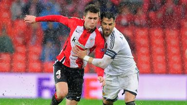 Aymeric Laporte (left) in action for Athletic Bilbao