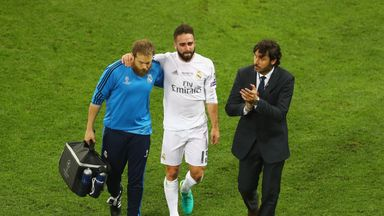 Dani Carvajal was in tears after being hurt in Champions League final