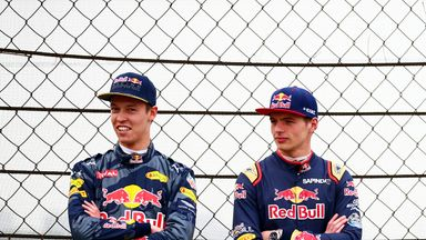Daniil Kvyat (left) has been replaced by Max Verstappen (right) at Red Bull Racing