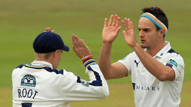 Jack Brooks took 4-74 as Yorkshire bowled Notts out for 261
