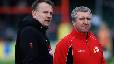 Kingsley Jones (left) and Lyn Jones during their time together at Newport Gwent Dragons