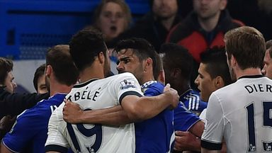 Mousa Dembele clashed with Diego Costa on Monday night