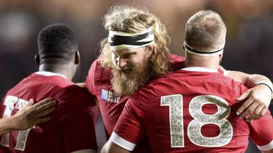 Evan Olmstead has been capped seven times for Canada and played in last year's Rugby World Cup