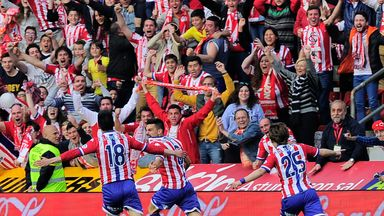 It was joy for Sporting Gijon as they beat Villarreal 2-0