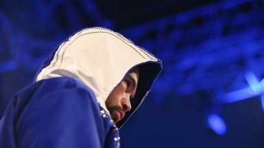 Tony Bellew arrives at the ring to face Illunga Makabu