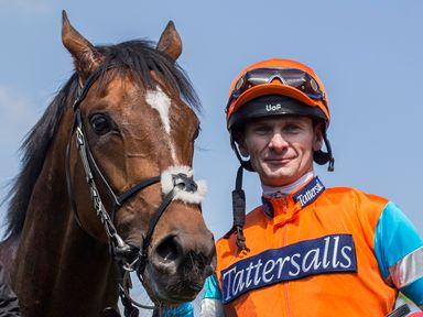 Cunco, with Robert Havlin after winning at Newbury