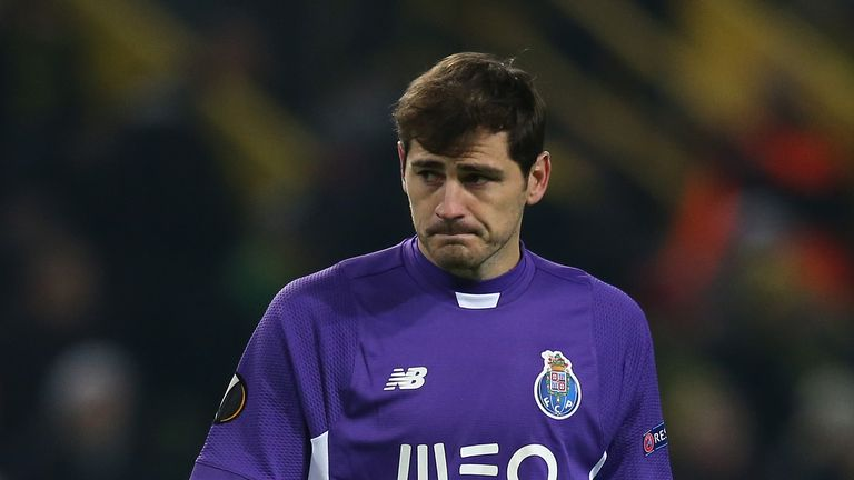 Iker Casillas, Borussia Dortmund v FC Porto, Europa League, February 2016