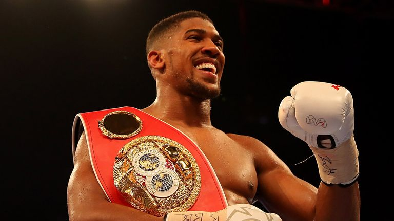 Anthony Joshua currently holds the IBF world title