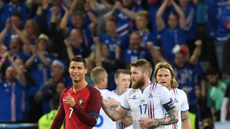 Cristiano Ronaldo was enraged after Iceland held Portugal to a 1-1 draw