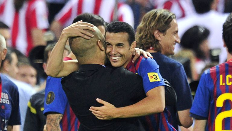 Pedro enjoyed a trophy-laden spell with Barca