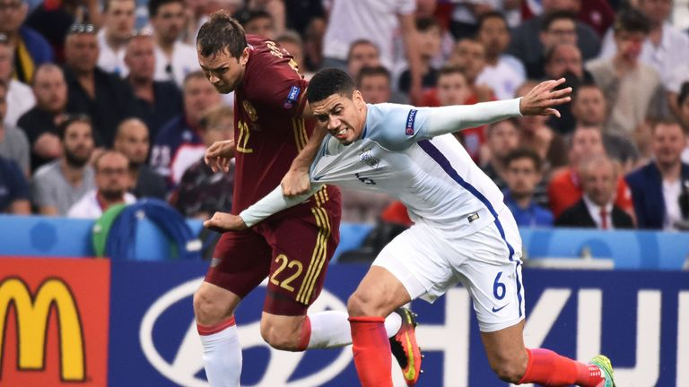 Chris Smalling (right) partnered Gary Cahill in all four of England's Euro 2016 matches
