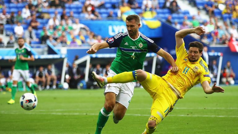 Gareth McAuley has 63 caps and eight goals for Northern Ireland