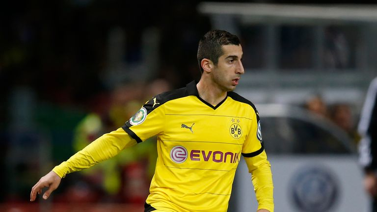 Mkhitaryan scored 23 league goals in three years with Borussia Dortmund