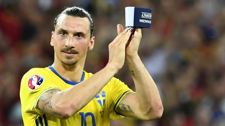 Zlatan Ibrahimovic retired from Sweden duty after his country's elimination