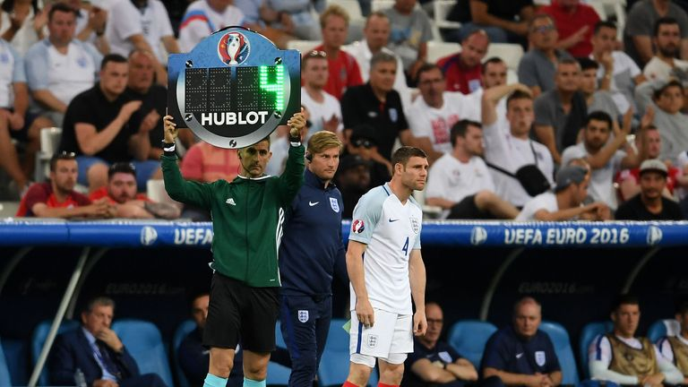 Milner made his final England appearance at Euro 2016, as a sub against Russia