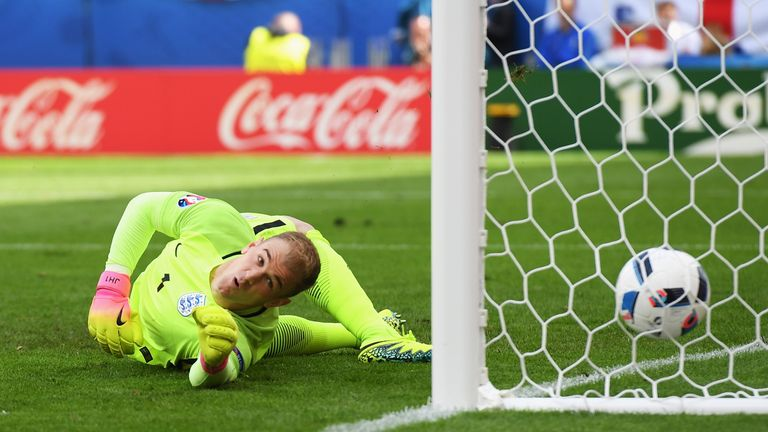 Joe Hart should have done better with Bale's strike