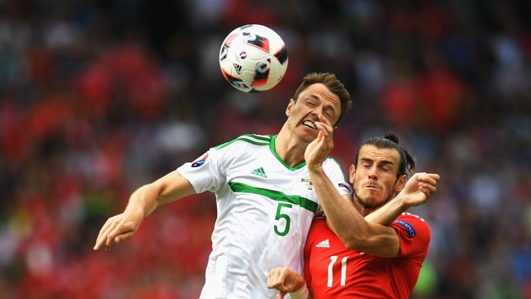 Gareth Bale was frustrated in the first half by a dogged Northern Ireland defence