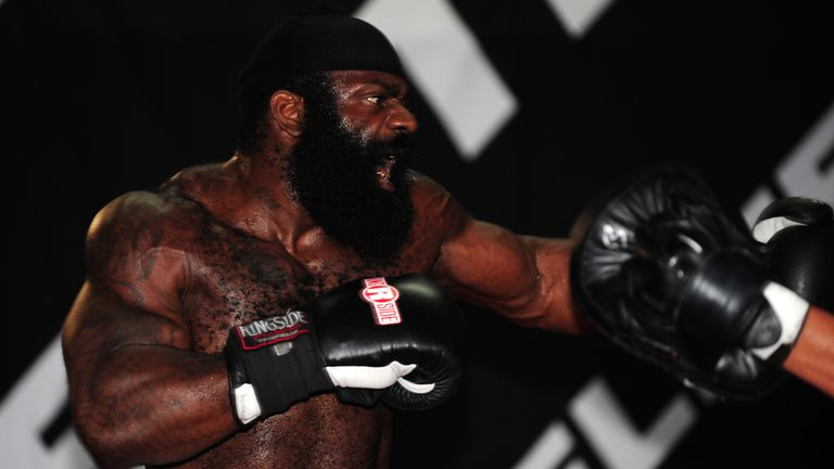 Kimbo Slice relied on powerful punches throughout his short career