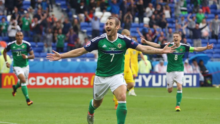 Niall McGinn scored Northern Ireland's second goal against Ukraine