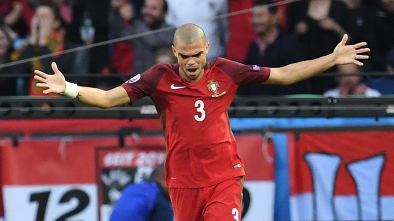Portugal's Pepe is facing a fitness race ahead of the Euro 2016 semi-final with Wales