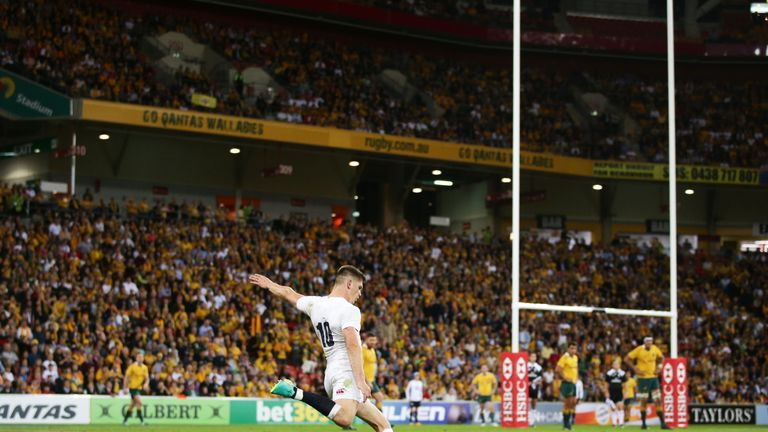Owen Farrell delivered 24 of England's 39 points in Brisbane
