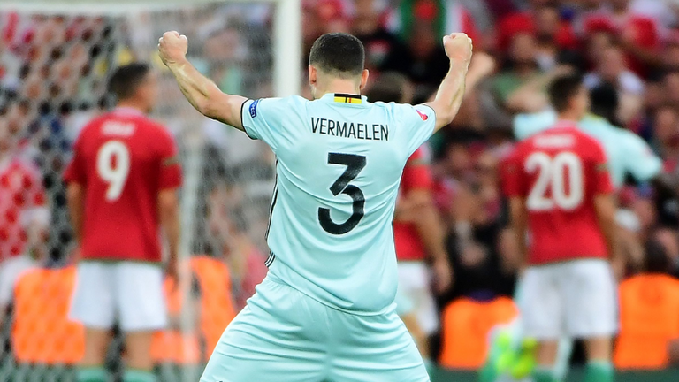Belgium defender Thomas Vermaelen in action at Euro 2016