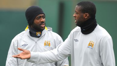 Kolo Toure (L) and his brother Yaya Toure are two Ivorians to play in the Premier League