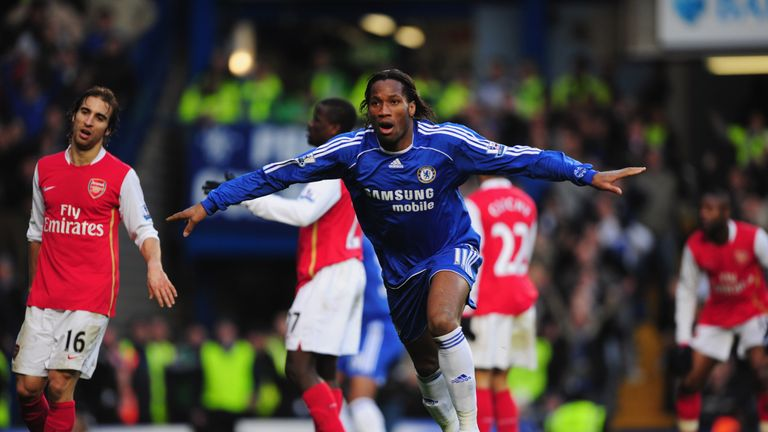 Didier Drogba scored 15 goals against Arsenal during his time at Chelsea