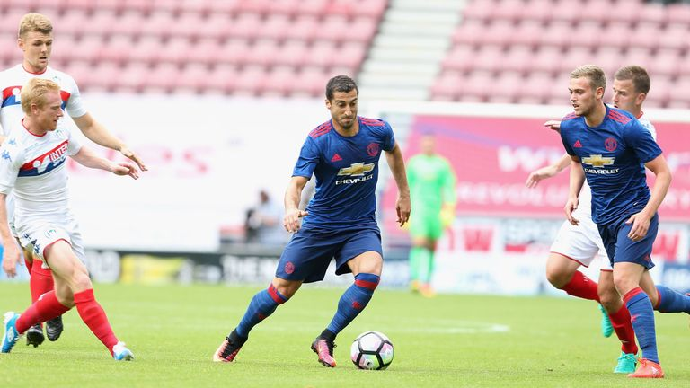 Henrikh Mkhitaryan impressed in his first appearance in a United shirt