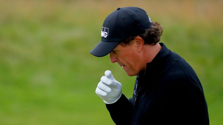Phil Mickelson regained the lead on the front nine, but he could not match Stenson's remarkable finish
