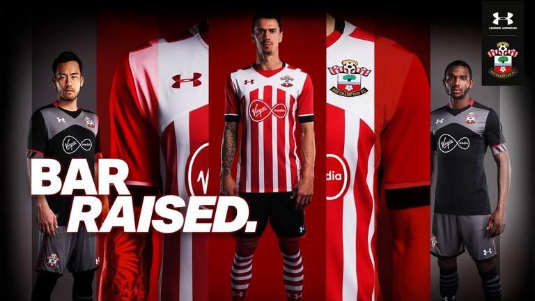 Southampton's home and away kits for the 2016/17 season (image c/o Southampton)