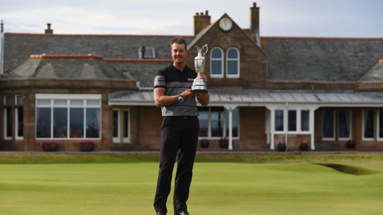 Stenson lifted the Claret Jug after repelling the challenge of Phil Mickelson at Troon last year