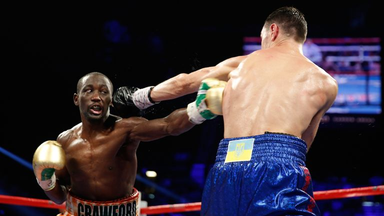 Crawford's left was behind the second flash knockdown in the fifth round