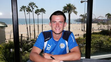 Ben Chilwell signed his new contract in Los Angeles on Leicester's pre-season tour