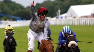 Galileo Gold and Frankie Dettori win the St James' Palace Stakes