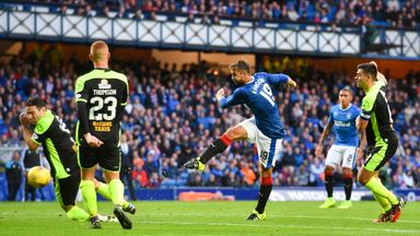 Niko Kranjcar got off the mark for Rangers in the League Cup victory over Stranraer