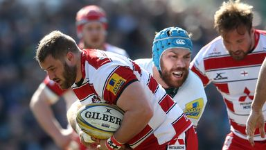 Paddy McAllister (left) extends contract at Gloucester