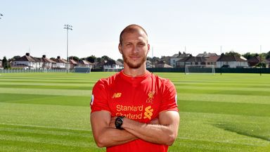 Ragnar Klavan takes in his new surroundings at Melwood after signing for Liverpool