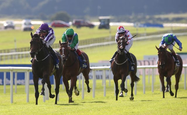 Seventh Heaven ridden by Seamie Heffernan (left) on the way to winning the Darley Irish Oaks.