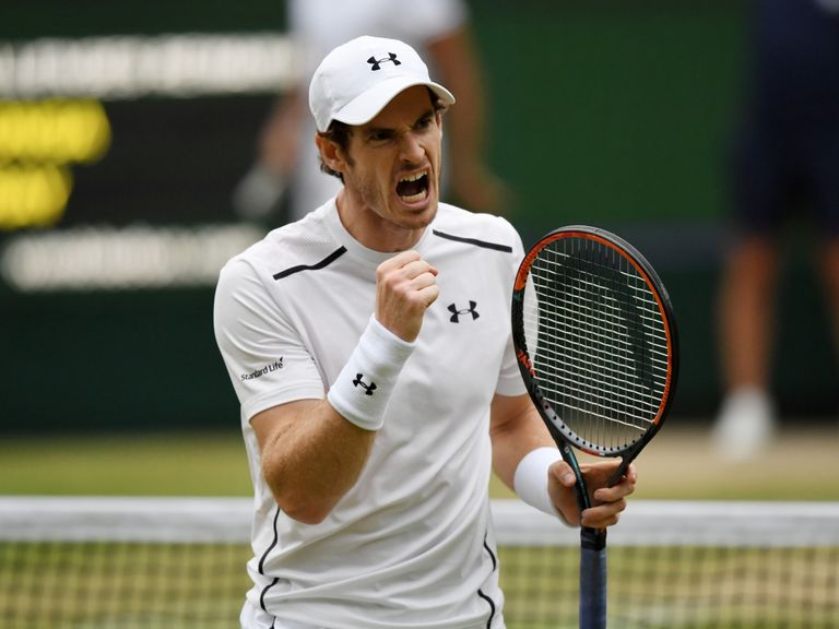 Murray survives, Raonic into semis