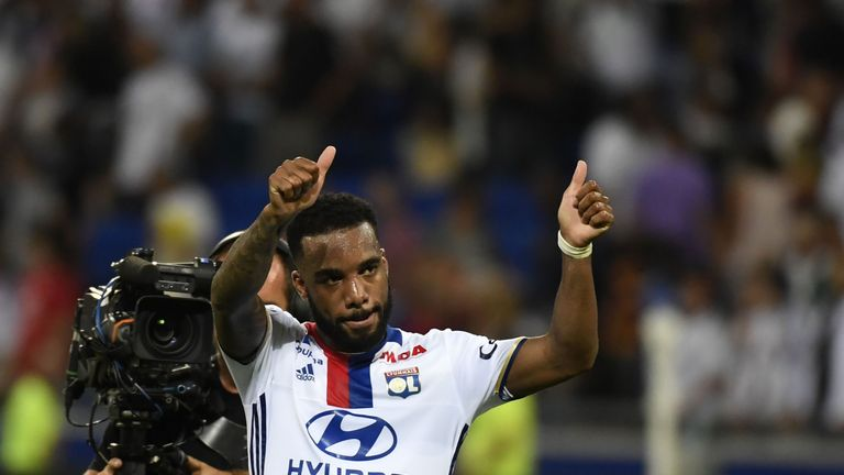 Alexandre Lacazette netted twice during Lyon's 4-0 win against AZ Alkmaar