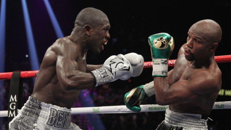 Mayweather took a lengthy break from boxing after registering his 49th win against Berto
