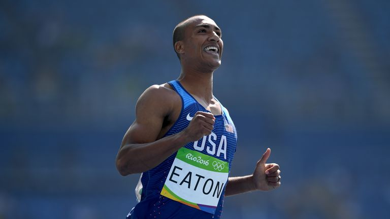 Eaton defended his Olympic Games decathlon title at Rio 2016