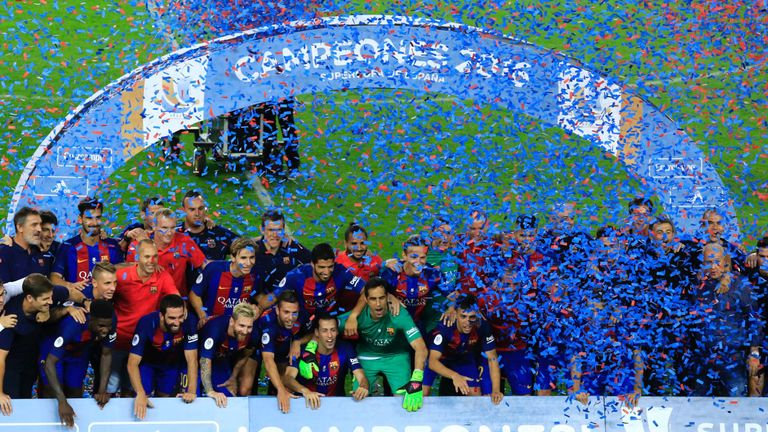 ... : League holders earn Spanish Super Cup glory after 5-0 aggregate win