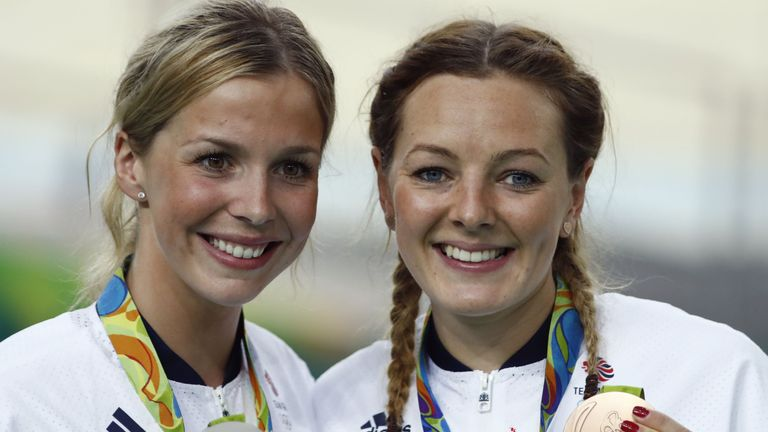 Becky James (left) and Katy Marchant exceeded expectation in Rio